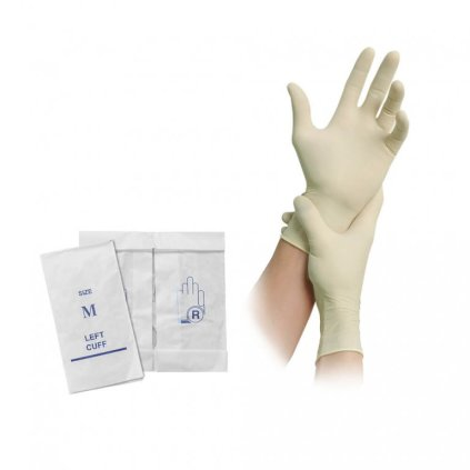 atex glove in paper wrapping/latex glove